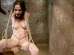 Brutal Elbow And Crotch Rope Suspension.Caned, Severely Flogged And Made To Cum, Left To Suffer. - H