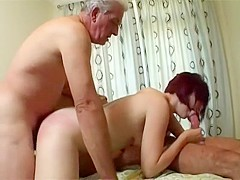 Lucky old guy fucks a young ... - PornZog Free Porn Clips
