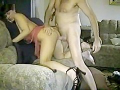 Hot cuckold wife used by stranger in front of hubby