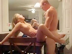 Rough fucking my slut girlfriend to orgasm after eating her cunt