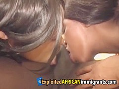 Black stallion impaling hot African immigrants