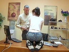 hot skinny college girl fucked in office