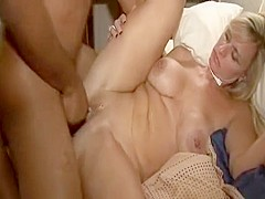 Black Stranger Has Fun With a Busty Blonde