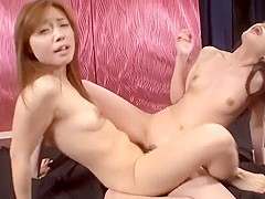Wild Japanese Lesbian Face Licking