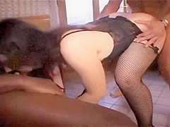 real amateur beauty first time anal interracial threesome