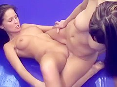 two gorgeous lesbians having hot naked sex