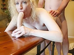 Slutty blonde mature fucked ...