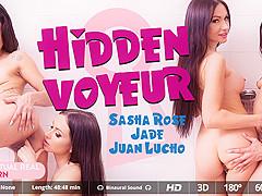 Jade  Juan Lucho  Sasha Rose in Hidden voyeur - VirtualRealPorn