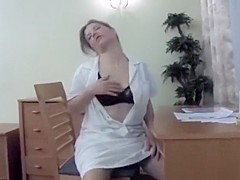 Olga fingering her pussy hard and fast!