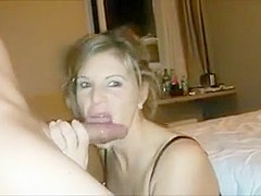 Cock Hungry Blonde Gets a Generous Facial