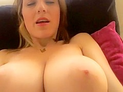 Super hot cam girl with huge natural tits