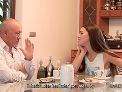 DADDY4K. Old dad isn't against hot quickie with son's attractive girl