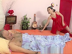 Brunette Stepdaughter Sexual Healing To Sick Stepdad