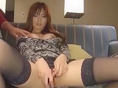 Amazing Japanese slut Saki Ayano in Fabulous Stockings, Masturbation JAV video
