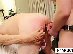 Leya Falcon in Leya Falcon Balls Busts Then Pegs Sissy Jessica In Her 1st Anal - LeyaFalcon