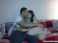 Teens Analyzed - Lina - Redhead's first interracial anal