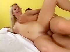 Blond stepmom with son in law