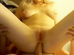 Blonde's Anal Drilling in Sexy Boots