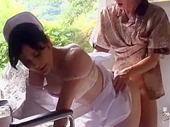 Hottest Japanese girl Mai Tsuruta in Amazing Nurse, Outdoor JAV movie