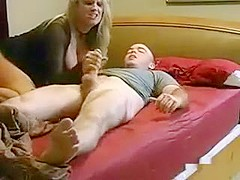 Mommy Satisfies Her Son by Riding His Dick