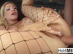 Busty Milf Gets Analized By A White And A Black Dick - Hot4MILF
