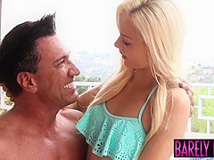 Angelic teen Elsa Jean services facializing cock with pussy