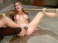 Hot Milf Suffers The Most Painful Bondagecategory 5 Suspension Made To Squirt All Over The Place - H