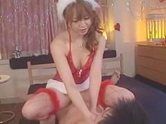 Crazy Japanese chick Akiho Yoshizawa in Incredible Stockings, Blowjob JAV clip