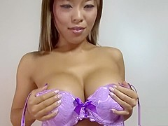 Busty Asian honey has her beaver drilled