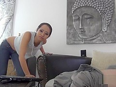 Asian girl gets fucked and facialized