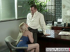 Madison Ivy gets fucked on her bosses desk for a lil extra cash - Digital Playground