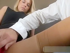 Nikky Dream POV with tan nylons