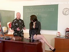 Raunchy schoolgirl receives an anal plowing