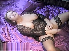 Smoking Masturbating Vibe on Satin - ALHANA WINTER - RottenStar Vintage