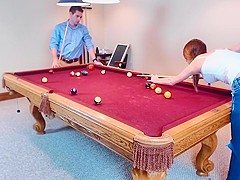 honey pool table lost bet quickie - huge facial