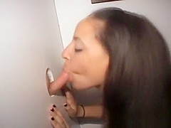 Brunette Amateur Dirtbag Sucking Off Strangers At Glory Hole