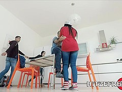 HITZEFREI Texas Patti finds a hung stranger to fuck