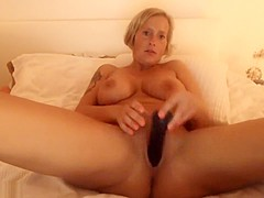 Blonde With Short Hair Is Masturbating