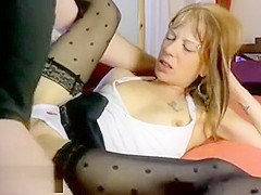 Milf With Small Tits Sucks Cock And Gets Fingered
