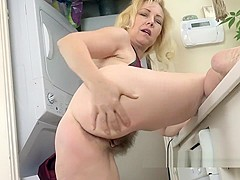 Badd Gramma strips naked in her kitchen