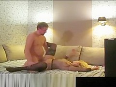 Blonde Is Fucked In Boots And Stockings