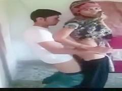 Amazing exclusive arab couple, dark hair, webcam porn movie