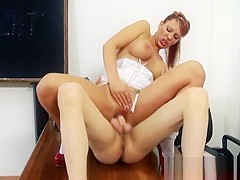 Portuguese busty MILF teacher drilled by her student