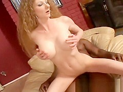 Big tit MILF gets her pierced hairy pussy fucked