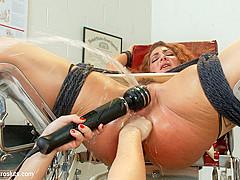 Lea Lexis  Savannah Fox in Anal Latex Squirting Nympho Nurses - Electrosluts