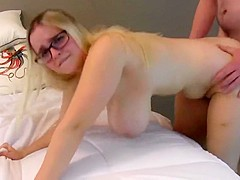 Busty college girl Bounces On A Fat Cock And Gets A Creampie