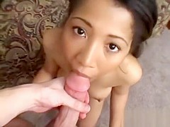Cute asian babe with nice boobs gets fucked