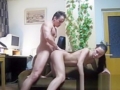 Dilettante babe gets pussy licked and screwed from behind