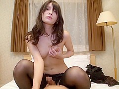 Hottest Japanese chick in Exotic POV, Stockings JAV movie
