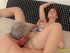 Mature Redhead Sable Renae Has Her Well Used Pussy Licked and Dicked Again